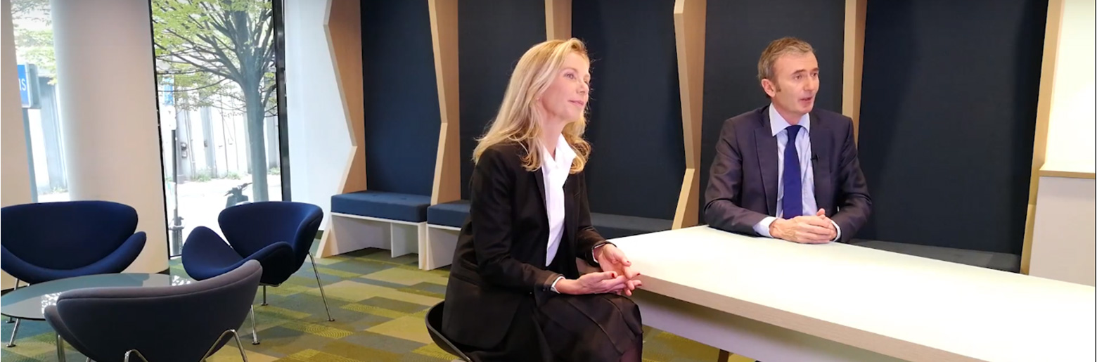 Claire Ducos, Sopra Steria Next, and Brice Teinturier, IPSOS France, interpret the results of the Digital Gov'2018  Barometer